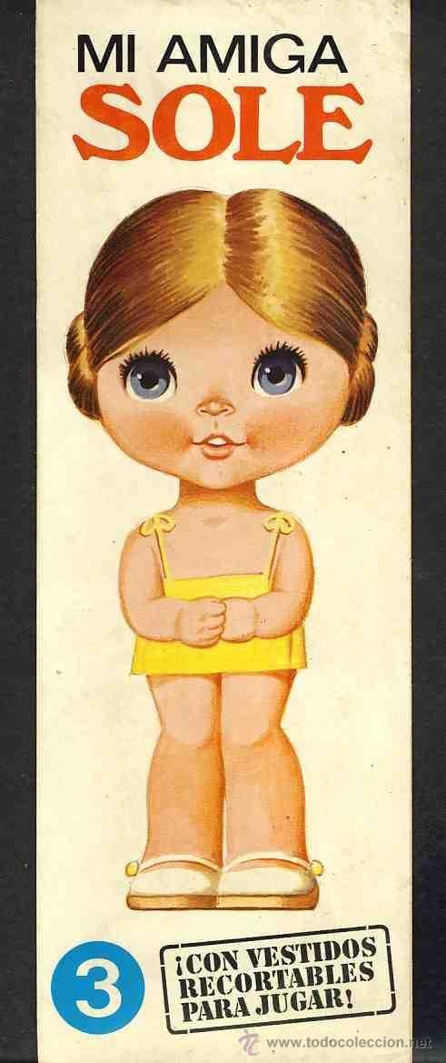 Recortable de muñecas: Mi amiga Sole (10,5 x 30 cms) (Ed.Bruguera n.3) (ver foto adicional)