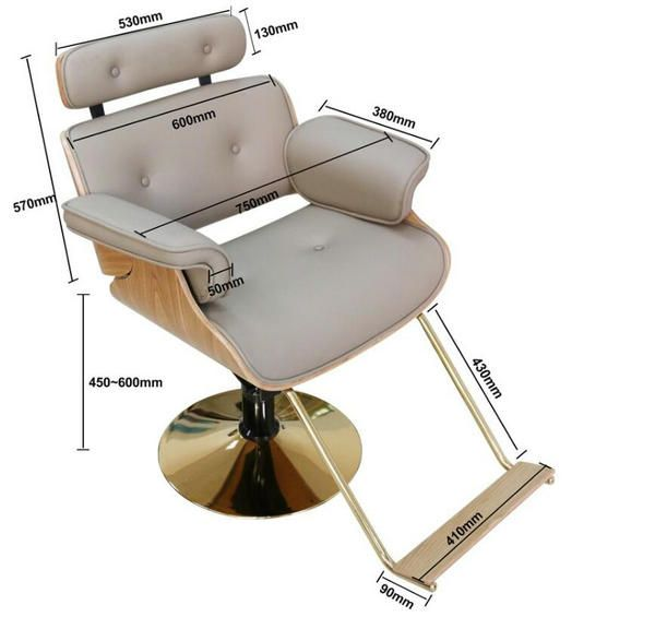 Lady Wooden Salon Hair Styling Chair Hydraulic Makeup Chairs Beauty Spa Equipment Hair Salon Furniture Manu Makeup Chair Hair Salon Chairs Salon Styling Chairs