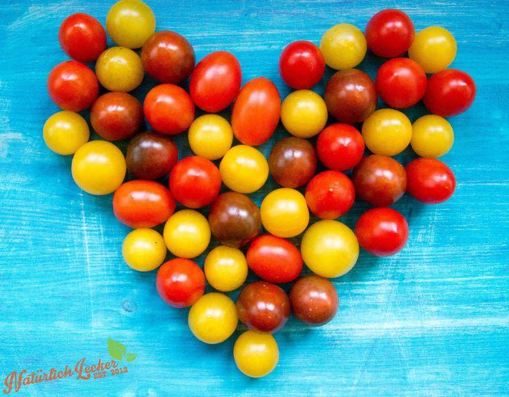 Ein #Herz aus #Tomaten für euch :-) Tolle #gesunde #Rezept #Ideen findet ihr auf meinem Blog und das Youtube Video dazu findet ihr direkt unter den #Rezepten.