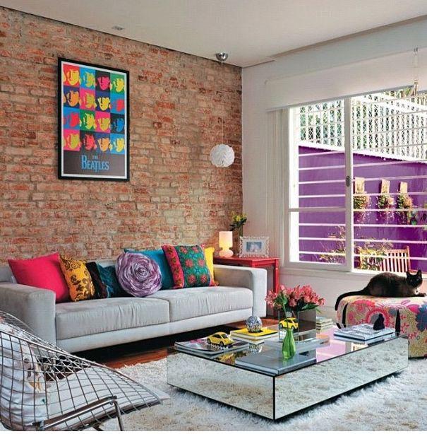 almofadas + poster = muita cor!!!