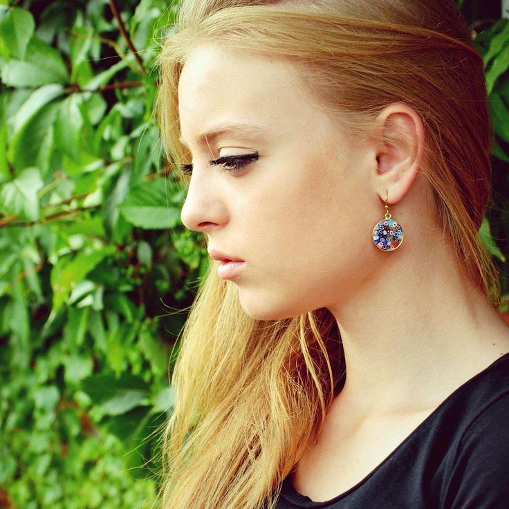 Murrina earrings! Multicolour!