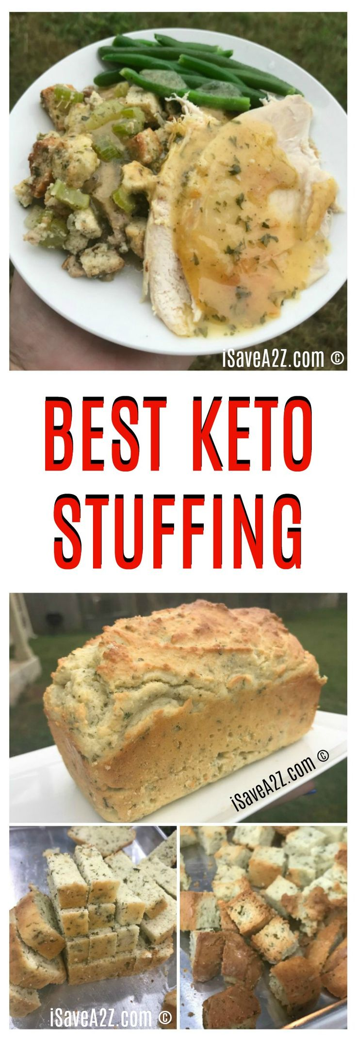 Best Keto Stuffing Recipe that's made with a Keto Friendly Savory Bread!!  OMG!