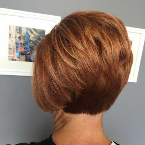 Short Stacked Bob Hairstyle