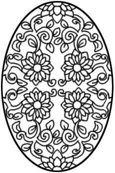 A flowery egg.