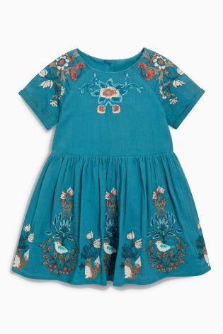 Buy Teal Embellished Dress (3mths-6yrs) from the Next UK online shop