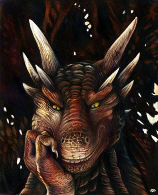"The dragon laughed, a deep gravelly tone that was both warm and frightening.  ""Humans are such delightful little hypocrites."" (This is Drago from the movie ""Dragon Heart"" if you haven't seen it you're missing out.)"
