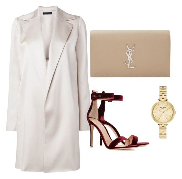 k by nicole-perestrelo21 on Polyvore featuring The Row, Gianvito Rossi, Yves Saint Laurent and Kate Spade