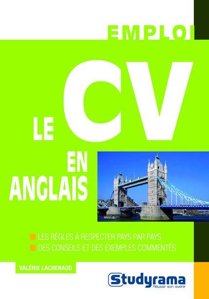 librairie studyrama   le cv en anglais -
