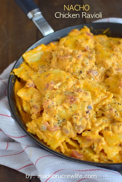Nacho Chicken Ravioli on MyRecipeMagic.com