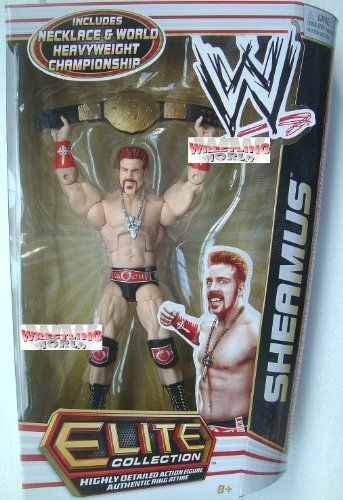 WWE Series 17 Elite Collector Sheamus Figure by Mattel. $22.99. Elite Collection Series #17 features authentically sculpted 6-inch figure. Bring home the officially licensed WWE action. Kids can recreate their favorite WWE matches. Perfect for WWE fans and collectors of all ages. Features deluxe articulation, amazing detail, and authentic accessories. From the Manufacturer World Wrestling Entertainment Elite Collection Series #17: Capturing all the acti...