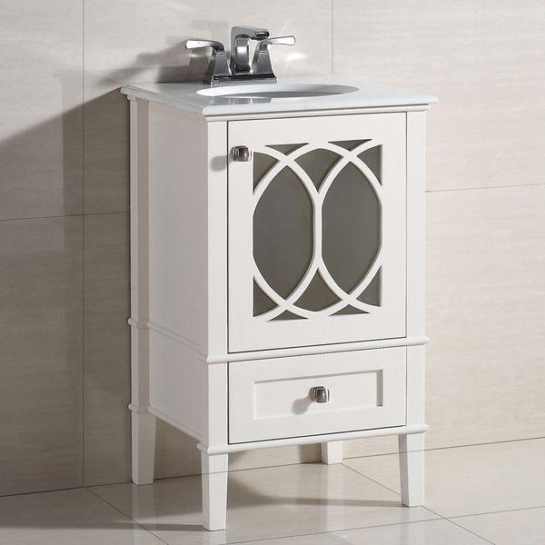 WYNDENHALL Mulberry 20-inch White Quartz Marble Top Bath Vanity by  WyndenHall - 71 Best Bathroom Images On Pinterest