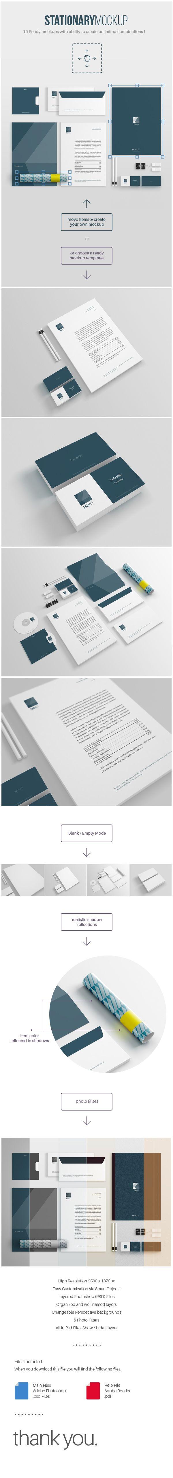 Free Stationery Mockup on Behance