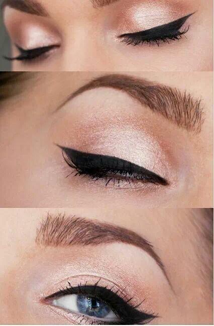 Maquillaje rosa claro