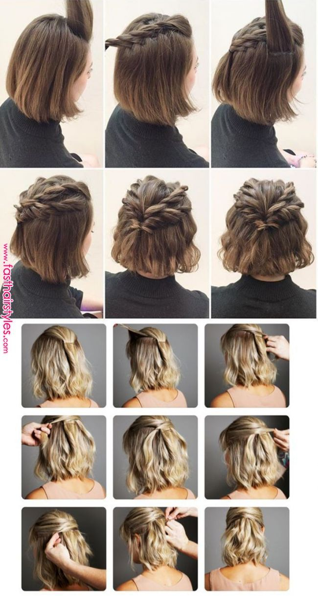 Simple Hairstyles On Your Own Closet Da Re Closet Fazer Penteados Simple Hairstyles On Your Own Clo Short Hair Styles Short Hair Updo Hair Styles