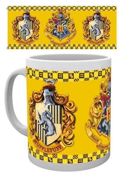 Taza casa Hufflepuff Harry Potter  Estupenda taza con la imagen de la casa Hufflepuff, una de las cuatro que componen el Colegio Hogwarts de Magia y Hechicería, 100% oficial y licenciada vistos en la exitosa y popular saga de Harry Potter. Ideal para regalar.