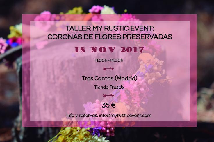 Curso de coronas de flores preservadas en Madrid