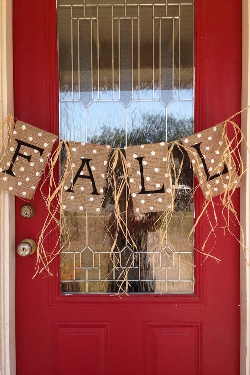 Fall Burlap Banner  - CountryLiving.com
