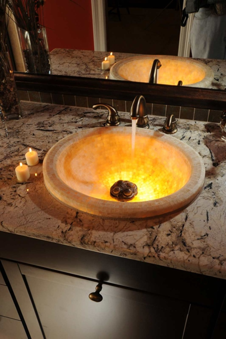 Love this look iBaths.com - Full Bathroom Pictures - Linkasink Onyx  Bathroom Sink
