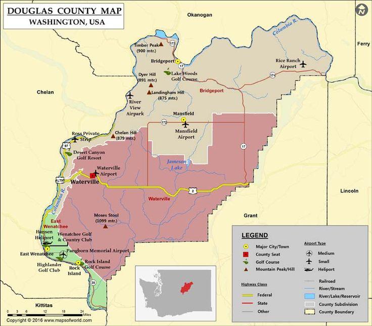 County Map, Douglas County, Map