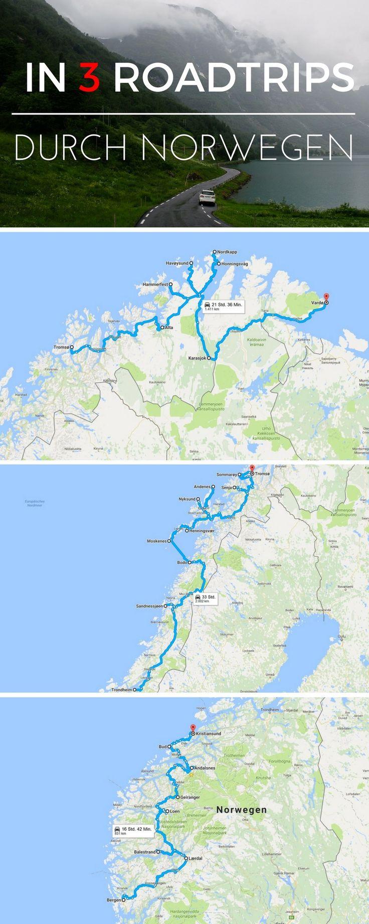 Norwegen mit dem Auto! Hier findet ihr 3 tolle Routenvorschläge für einen Roadtrip durch Norwegen mit vielen Tipps und Infos zu den Strecken!