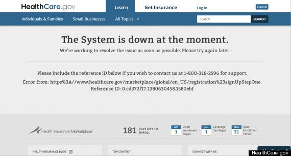 obama care health insurance website