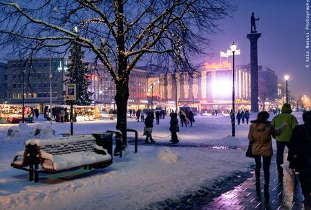 Trondheim city center in winter time! Photo by Aziz Nasuti -- National Geographic Your Shot