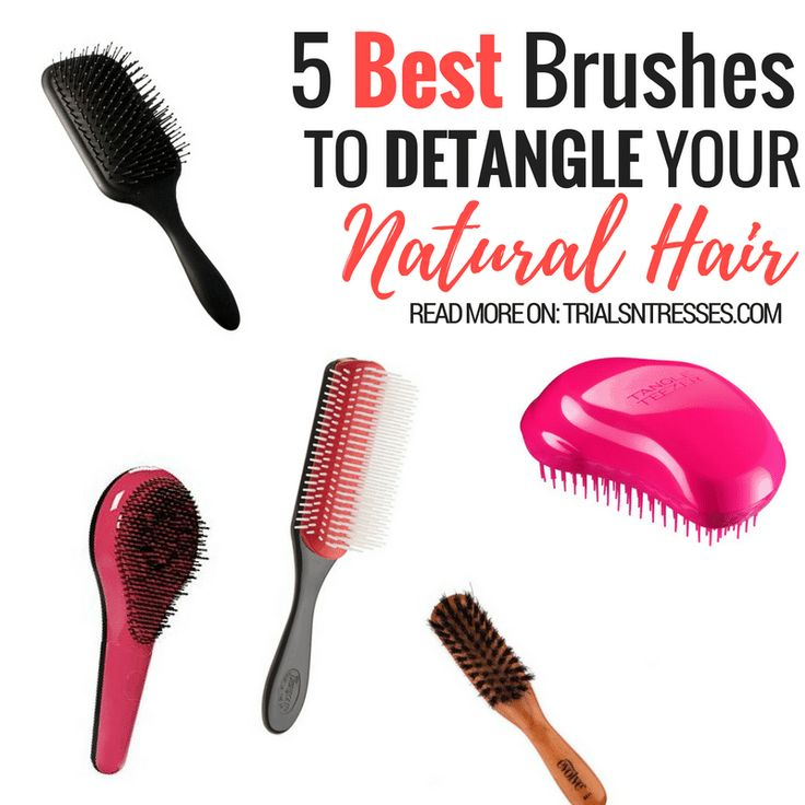 Detangling can be extremely tiring but if you use the right tools you'll get the best results. Here are 5 of the best brushes to detangle your natural hair.