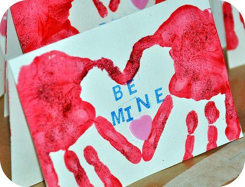 Valentines hand prints