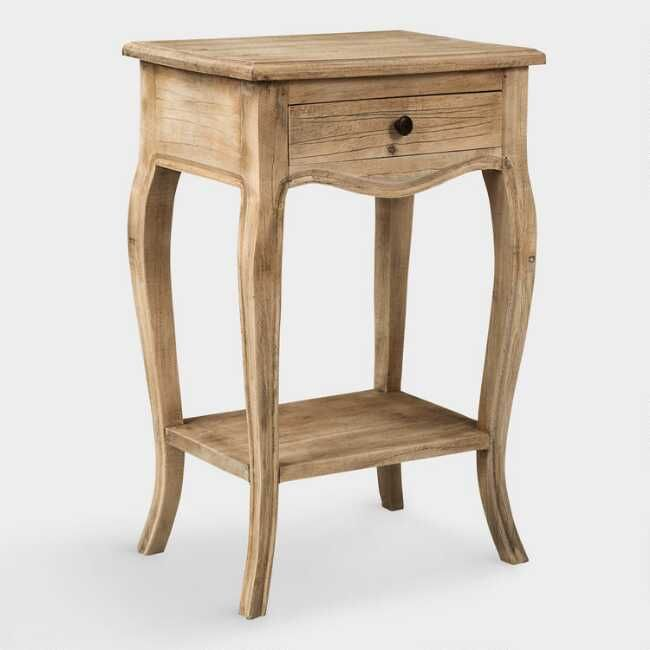 Natural Wood Noam Accent Table With Images Wood End Tables