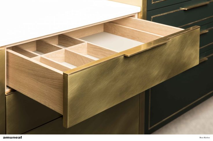 Brass Kitchen Drawer Detail