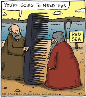 The Argyle Sweater by Scott Hilburn --September 15, 2015 ---- Moses and the parting of the Red Sea