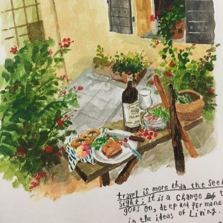 french table illustration손그림/일러스트 - 프로방스 일러스트, 프랑스 일러스트 프렌치 테이블,사진출처...