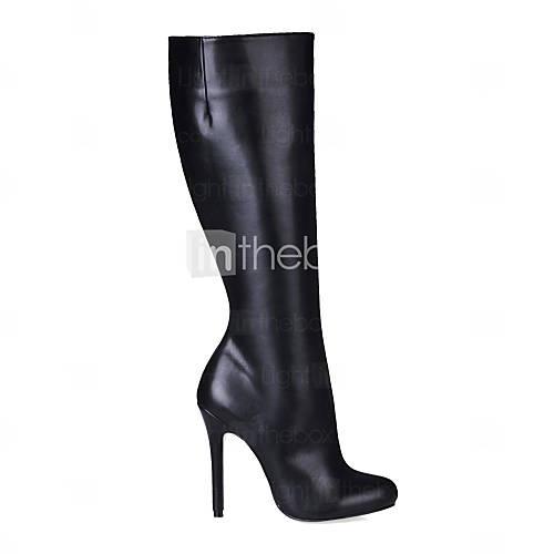 DAYA - Knestøvler Stilletthæler Leatherette