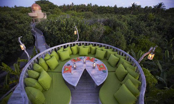 Exquisite Holiday EscapeDreams, Resorts, Green, Balconies, Sitting Area, Gardens, Soneva Fushi, Outdoor Decks, Places
