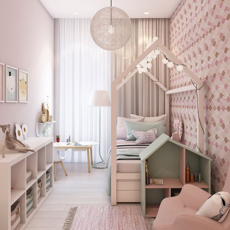 40 Awesome Kids Rooms That Use The Pastel Color Palette Mint And Blush Pink Girl S Room Toddler Room Kid