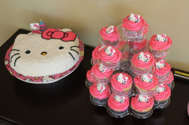 Hello Kitty Birthday!Art Hello, Cake Cupcakes, Hello Kitty Cake, Birthday Parties, Hello Kitty Birthday, Birthday Ariel, Parties Ideas, Birthday Awesome, Birthday Ideas