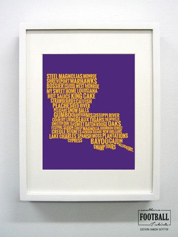 Louisiana State Pride | LSU University Print | Southern Football T-Shirts: Your GameDay Lifestyle Apparel Provider