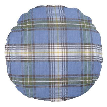 Tartan Plaid Pattern Round Pillow - patterns pattern special unique design gift idea diy