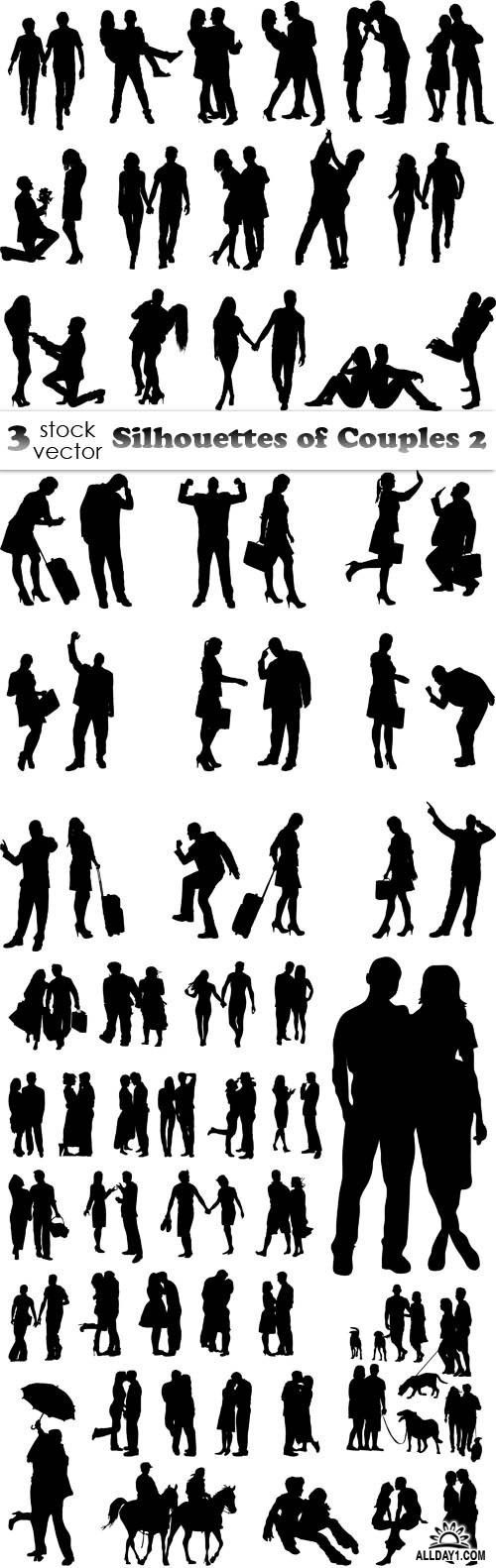 Vectors - Silhouettes of Couples 2