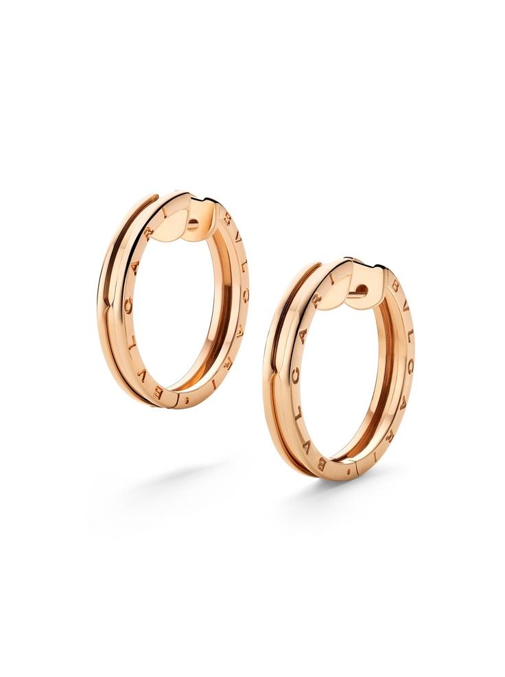 bvlgari 18k bzero1 hoop earrings at london jewelers