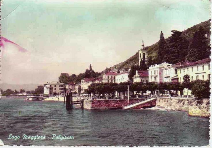 "#Belgirate in una foto d'epoca ""colorata"" ( #Verbania #Piedmont #Italy )"