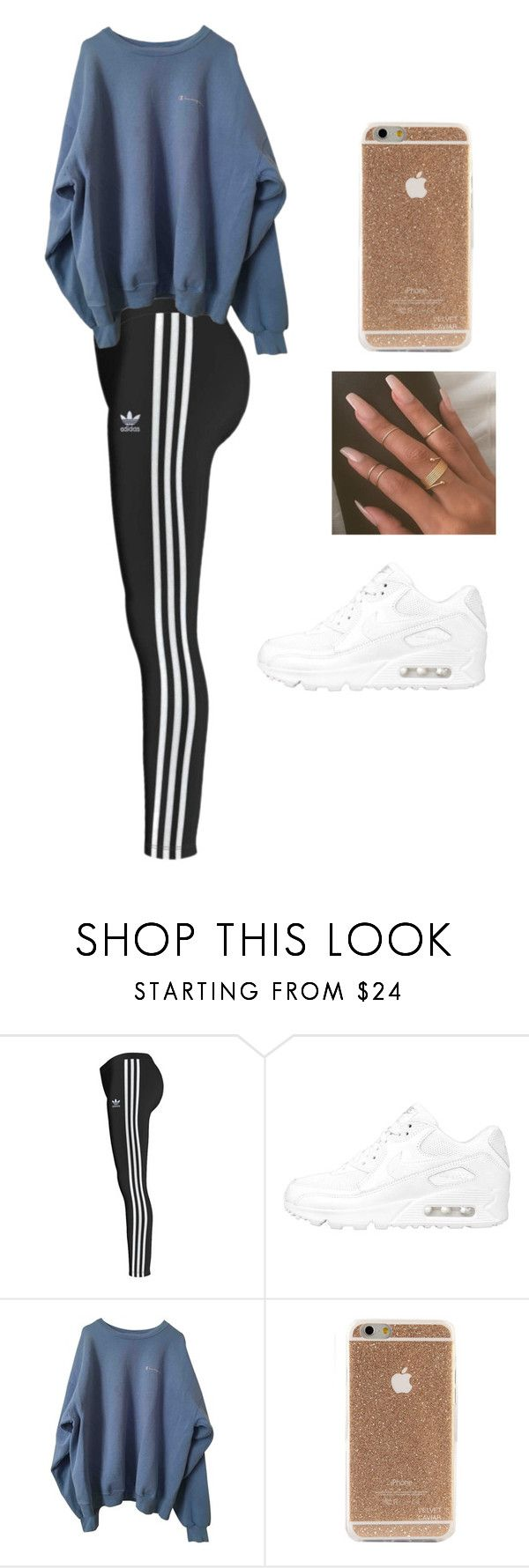 """137"" by jeanice99x ❤ liked on Polyvore featuring adidas Originals and NIKE"