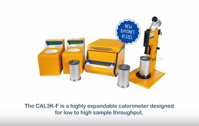 The CAL3K-F is the fourth in the range of innovative new oxygen bomb calorimeters from DDS - DDS CALORIMETERS   The new range, from the engineers who designed the CAL3K-A Oxygen Bomb Calorimeter range, features higher speeds, improved accuracy, small footprint with the now legendary resource reduction (no water required, lower power consumption, low maintenance).