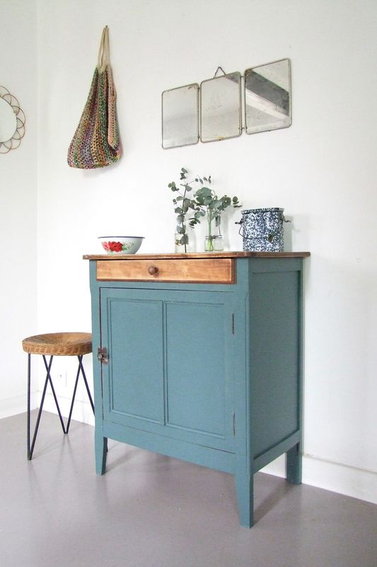 1119 best Meuble vintage Vintage furniture images on Pinterest - Repeindre Un Meuble En Chene