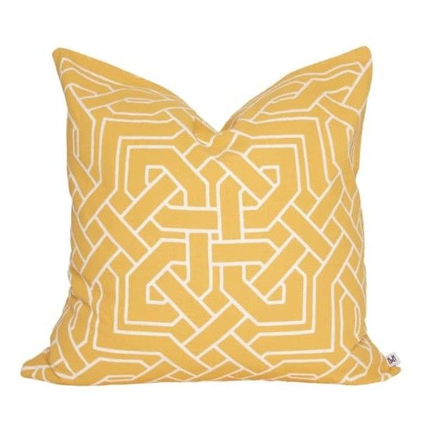 Nina Kullberg - Istanbul Yolk Yellow Cushion ($100) ❤ liked on Polyvore featuring home, home decor, throw pillows, yellow accent pillows, yellow toss pillows, yellow throw pillows, handmade home decor and yellow home accessories