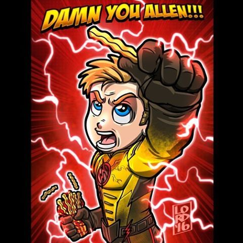 "Lordmesa Art — ""Fries""  ⚡️⚡️  Just one more reason for Thawne..."