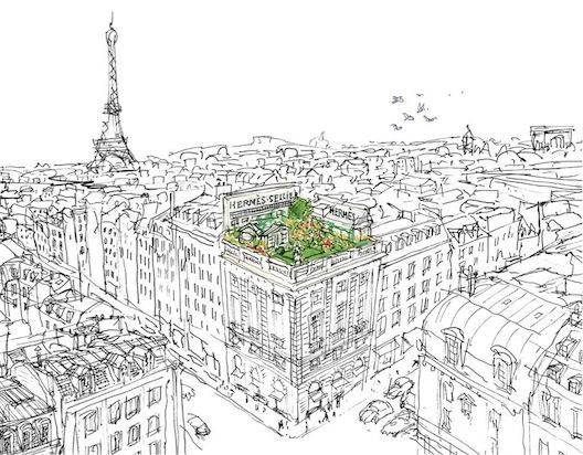 I love illustrations of Paris. This looks like the one from a Hermes perfume.