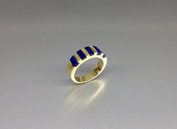 Beautiful deep blue Lapis Lazuli set in 18K Gold by lapislazulisamos. Explore more products on http://lapislazulisamos.etsy.com