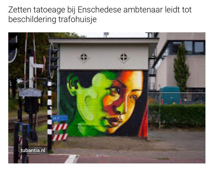Zetten tatoeage bij Enschedese ambtenaar leidt tot beschildering trafohuisje http://www.tubantia.nl/regio/enschede-en-omgeving/enschede/zetten-tatoeage-bij-enschedese-ambtenaar-leidt-tot-beschildering-trafohuisje-1.6553710#.WAjdernvaaE.twitter