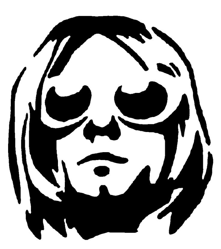 Kurt Cobain stencil template